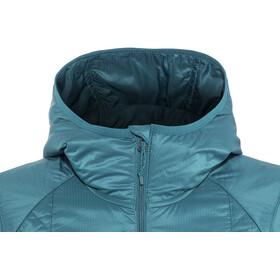 Icebreaker Helix LS Zip Hood Jacket Women Kingfisher/Jet Heather